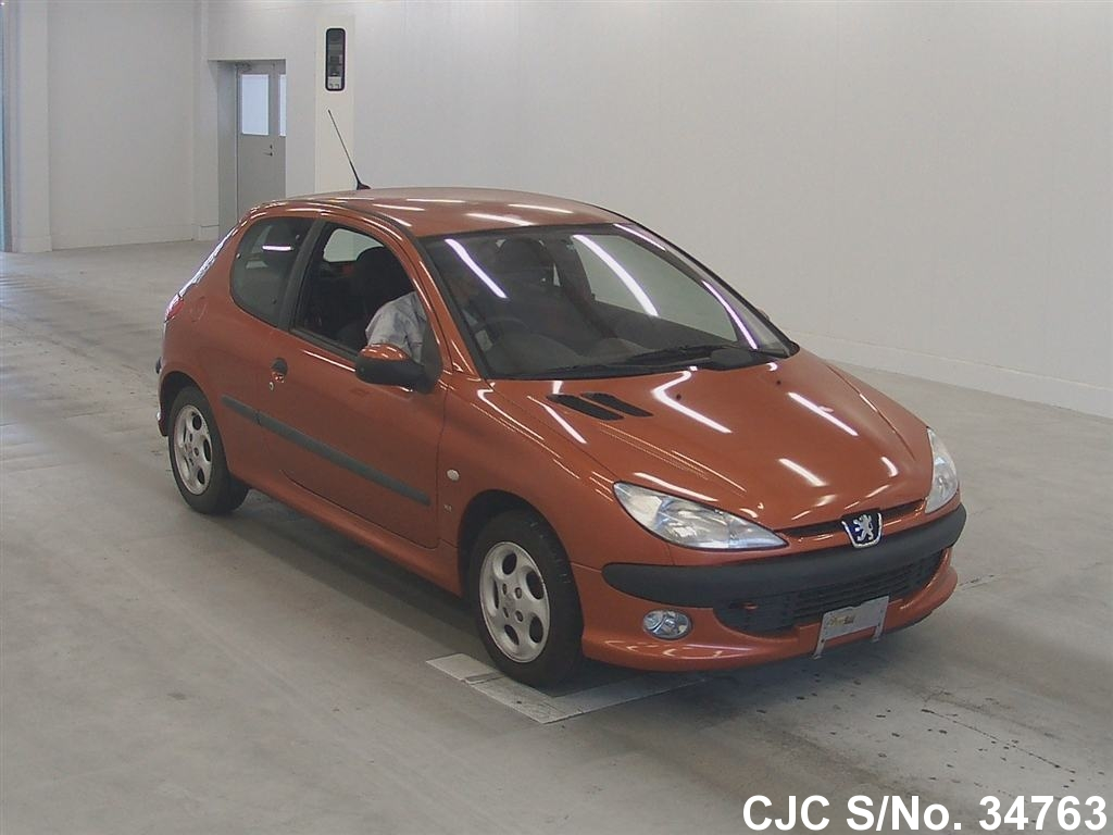 2000 peugeot 206 orange for sale stock no 34763 japanese used cars exporter. Black Bedroom Furniture Sets. Home Design Ideas
