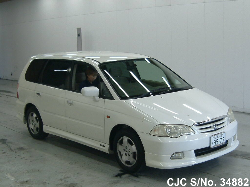 2001 honda odyssey shuttle white for sale stock no 34882 japanese used cars exporter. Black Bedroom Furniture Sets. Home Design Ideas