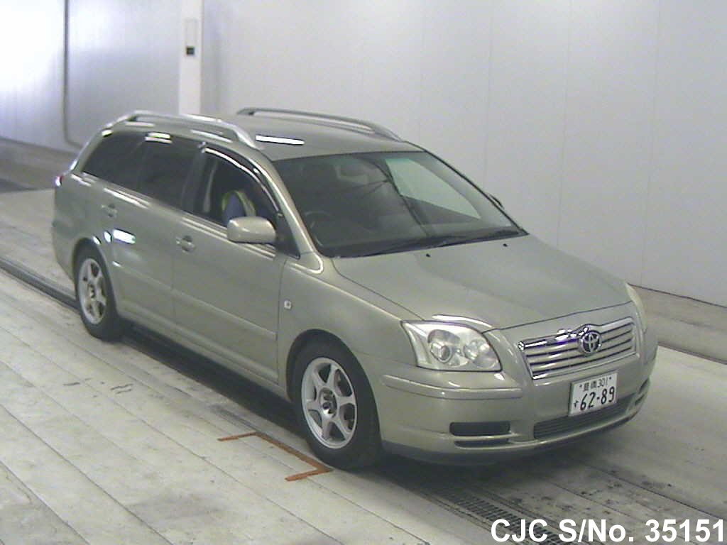 2004 toyota avensis silver for sale stock no 35151 japanese used cars exporter. Black Bedroom Furniture Sets. Home Design Ideas