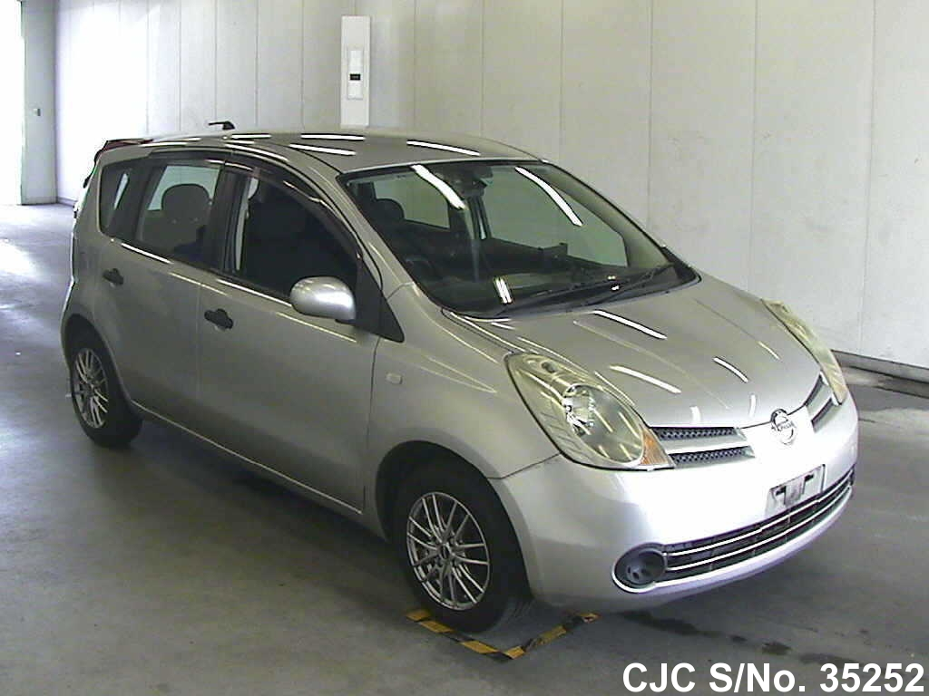2006 nissan note silver for sale stock no 35252 japanese used cars exporter. Black Bedroom Furniture Sets. Home Design Ideas