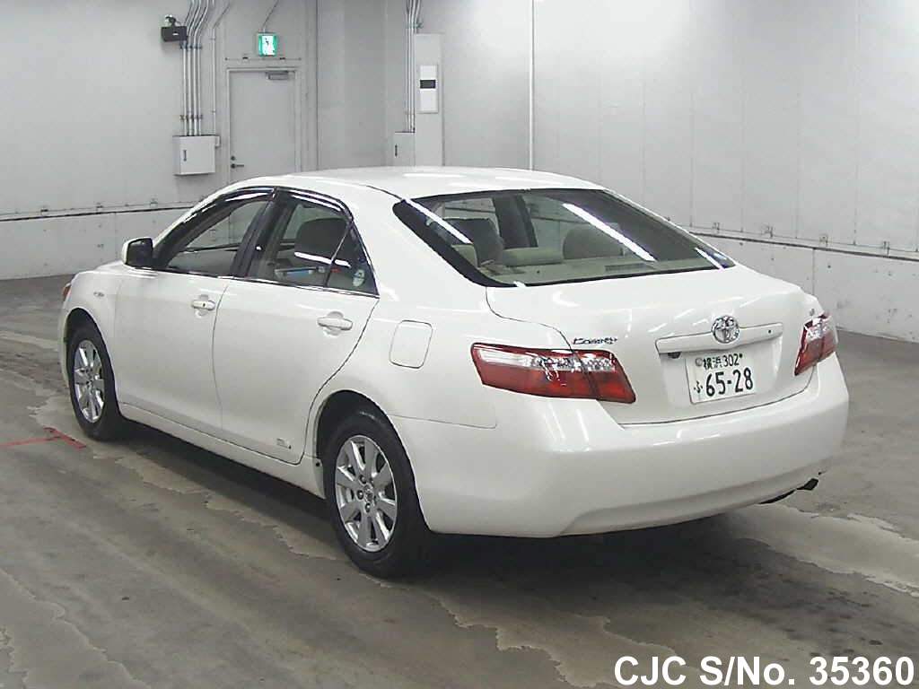 2008 toyota camry white for sale stock no 35360 japanese used cars exporter. Black Bedroom Furniture Sets. Home Design Ideas
