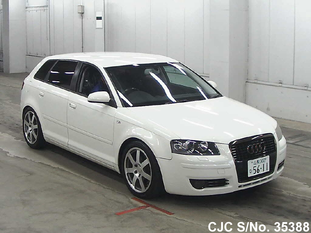 2004 audi a3 white for sale stock no 35388 japanese used cars exporter. Black Bedroom Furniture Sets. Home Design Ideas