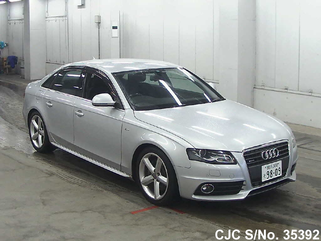 2009 audi a4 silver for sale stock no 35392 japanese used cars exporter. Black Bedroom Furniture Sets. Home Design Ideas