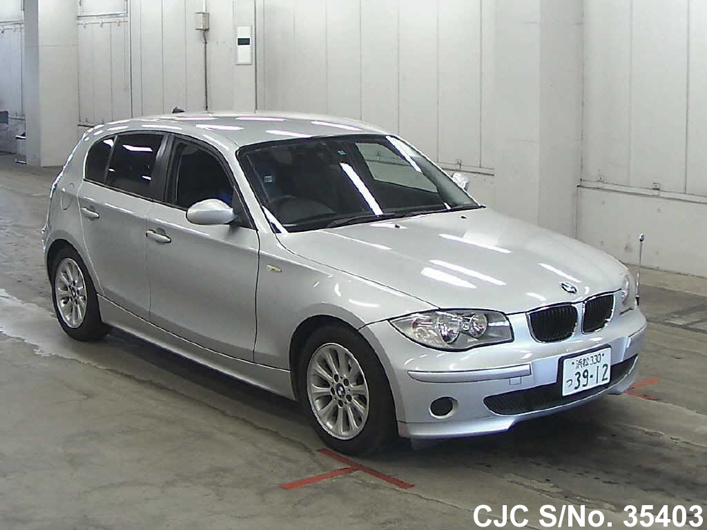 2005 bmw 1 series silver for sale stock no 35403 japanese used cars exporter. Black Bedroom Furniture Sets. Home Design Ideas