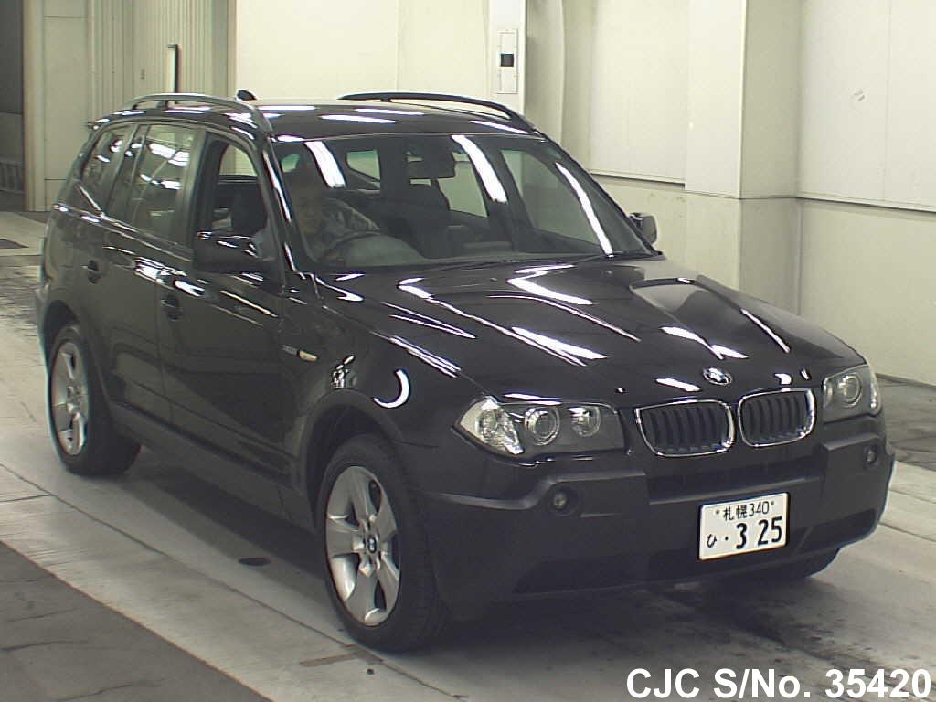 2004 bmw x3 black for sale stock no 35420 japanese used cars exporter. Black Bedroom Furniture Sets. Home Design Ideas