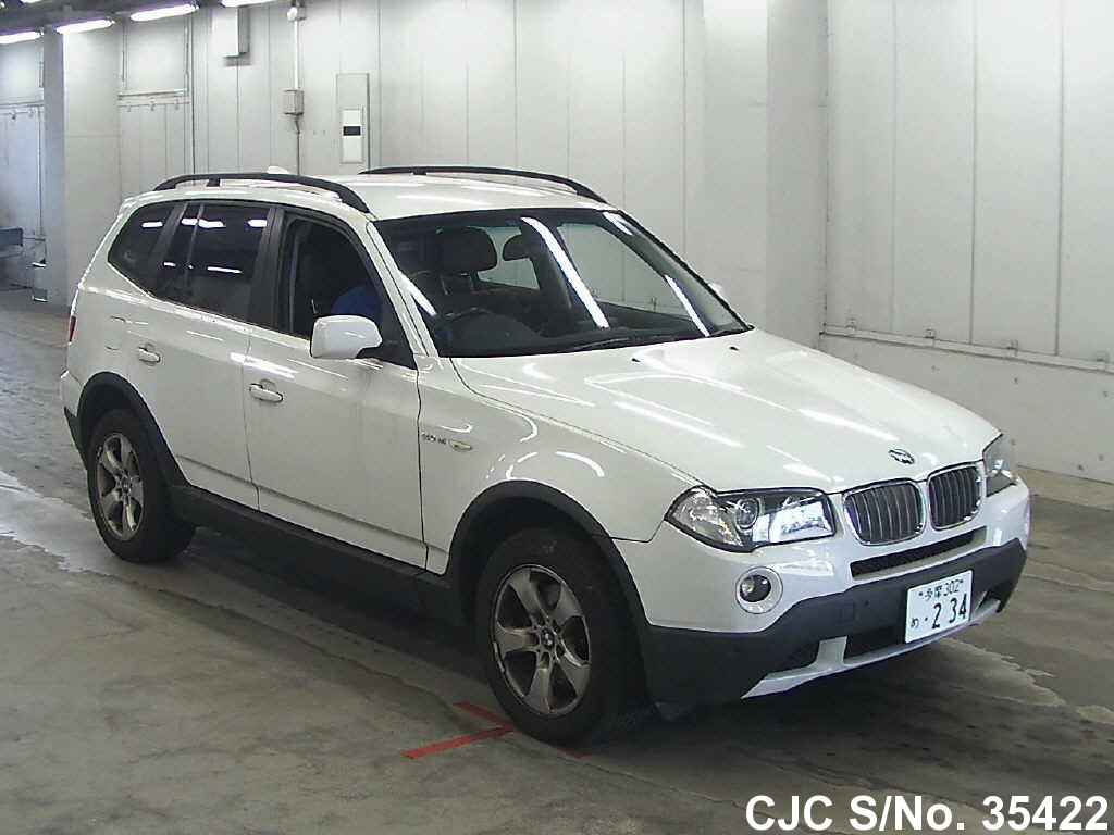 2009 bmw x3 white for sale stock no 35422 japanese. Black Bedroom Furniture Sets. Home Design Ideas