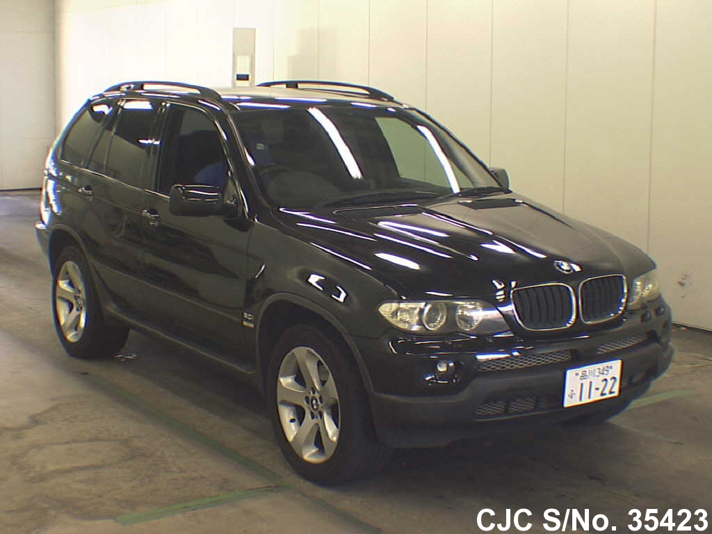 2003 bmw x5 black for sale stock no 35423 japanese used cars exporter. Black Bedroom Furniture Sets. Home Design Ideas