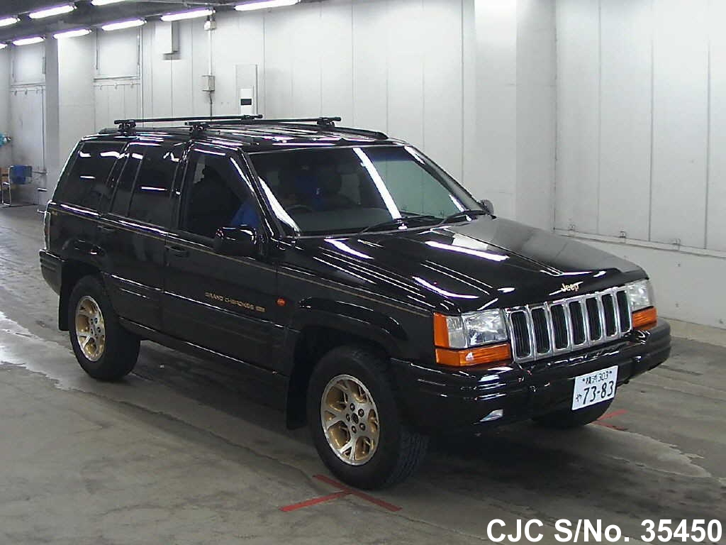 1997 jeep grand cherokee black for sale stock no 35450 japanese used cars exporter. Black Bedroom Furniture Sets. Home Design Ideas