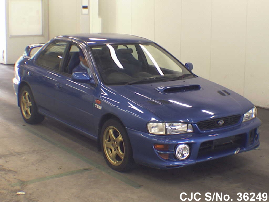 1999 subaru impreza blue for sale stock no 36249 japanese used cars exporter. Black Bedroom Furniture Sets. Home Design Ideas