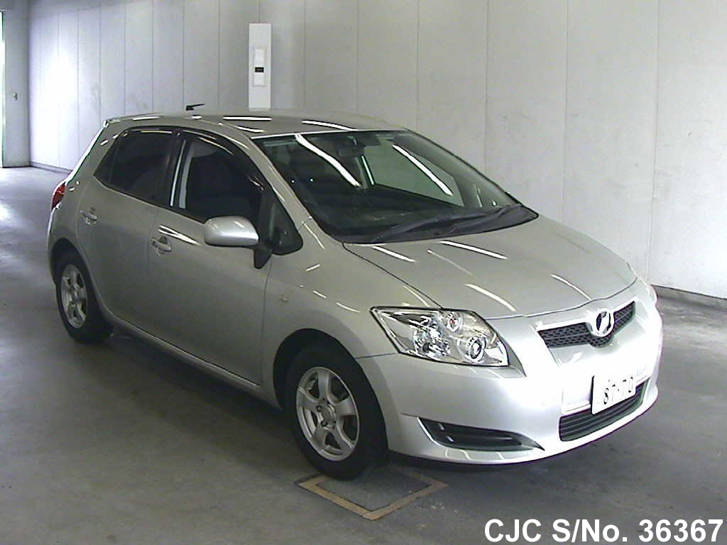 2007 toyota auris silver for sale stock no 36367 japanese used cars exporter. Black Bedroom Furniture Sets. Home Design Ideas