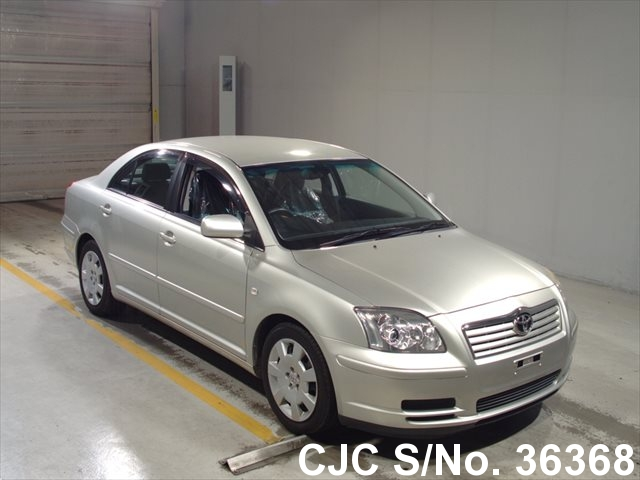 2004 toyota avensis silver for sale stock no 36368 japanese used cars exporter. Black Bedroom Furniture Sets. Home Design Ideas