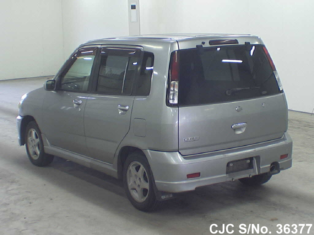 1999 nissan cube gray for sale stock no 36377 japanese used cars exporter. Black Bedroom Furniture Sets. Home Design Ideas