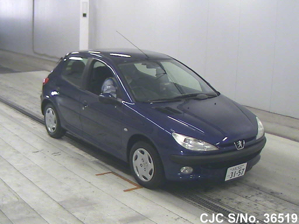 2000 peugeot 206 blue for sale stock no 36519 japanese used cars exporter. Black Bedroom Furniture Sets. Home Design Ideas