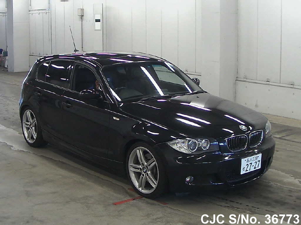 2006 bmw 1 series black for sale stock no 36773 japanese used cars exporter. Black Bedroom Furniture Sets. Home Design Ideas