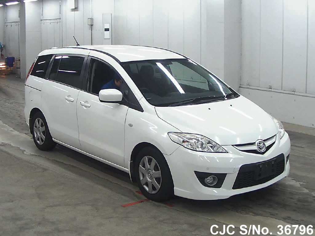 2009 mazda premacy white for sale stock no 36796 japanese used cars exporter. Black Bedroom Furniture Sets. Home Design Ideas