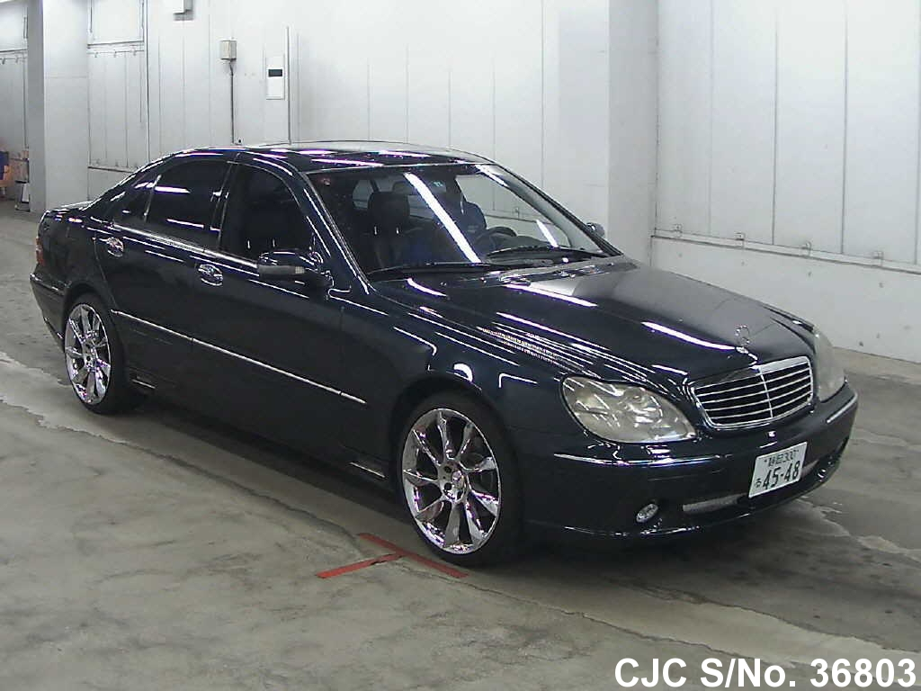 2000 mercedes benz s class black for sale stock no 36803 japanese used cars exporter. Black Bedroom Furniture Sets. Home Design Ideas