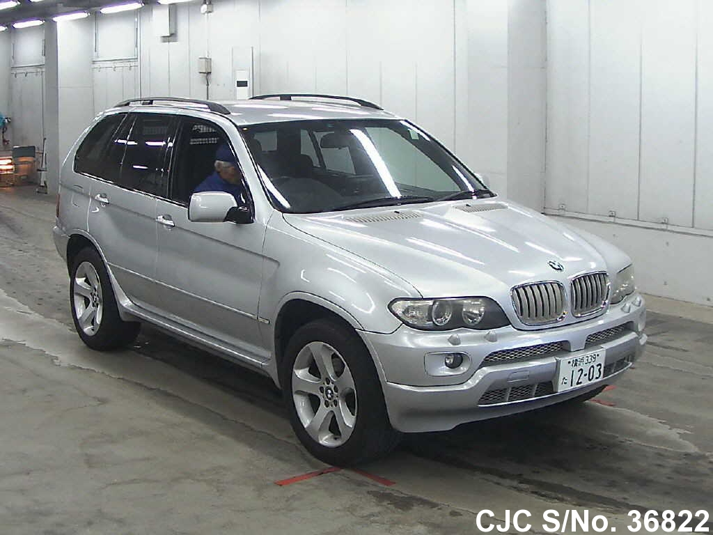 2003 bmw x5 silver for sale stock no 36822 japanese used cars exporter. Black Bedroom Furniture Sets. Home Design Ideas