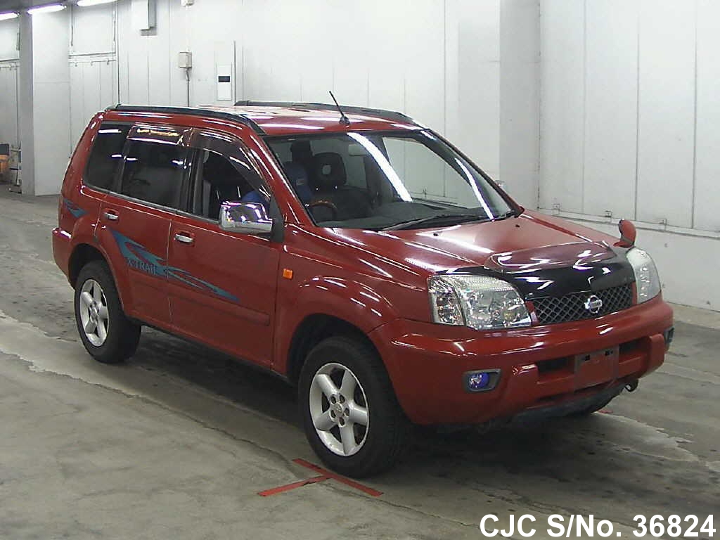 2000 nissan x trail red for sale stock no 36824 japanese used cars exporter. Black Bedroom Furniture Sets. Home Design Ideas