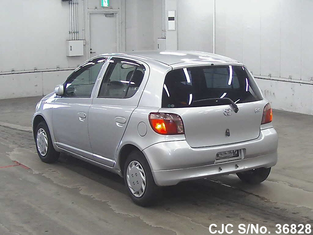 2000 toyota vitz yaris silver for sale stock no 36828 japanese used cars exporter. Black Bedroom Furniture Sets. Home Design Ideas