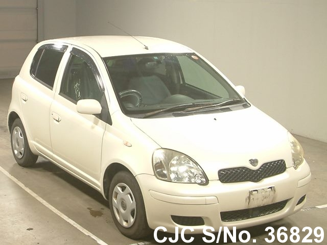 2002 toyota vitz yaris pearl for sale stock no 36829 japanese used cars exporter. Black Bedroom Furniture Sets. Home Design Ideas