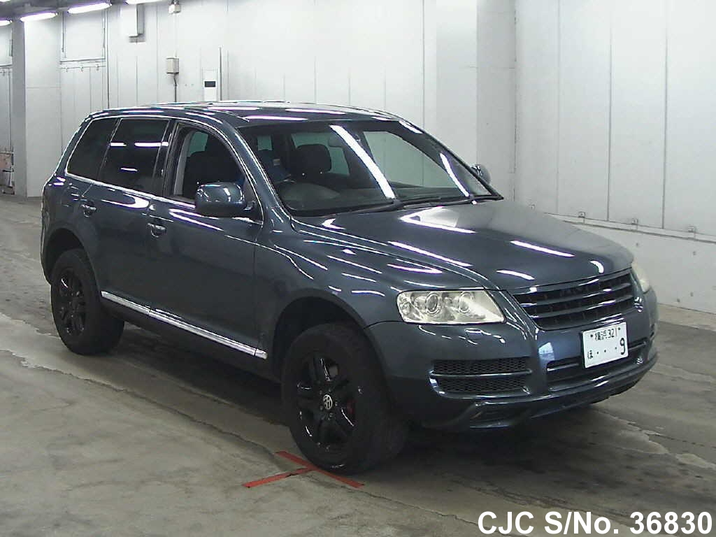 2003 volkswagen touareg gray for sale stock no 36830 japanese used cars exporter. Black Bedroom Furniture Sets. Home Design Ideas