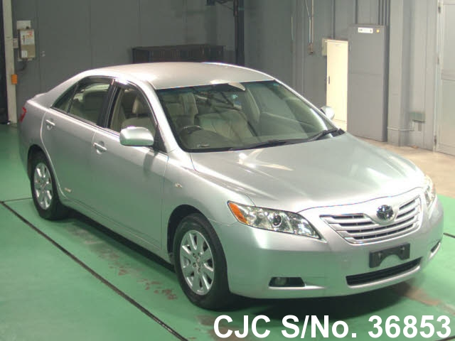 2008 toyota camry silver for sale stock no 36853 japanese used cars exporter. Black Bedroom Furniture Sets. Home Design Ideas