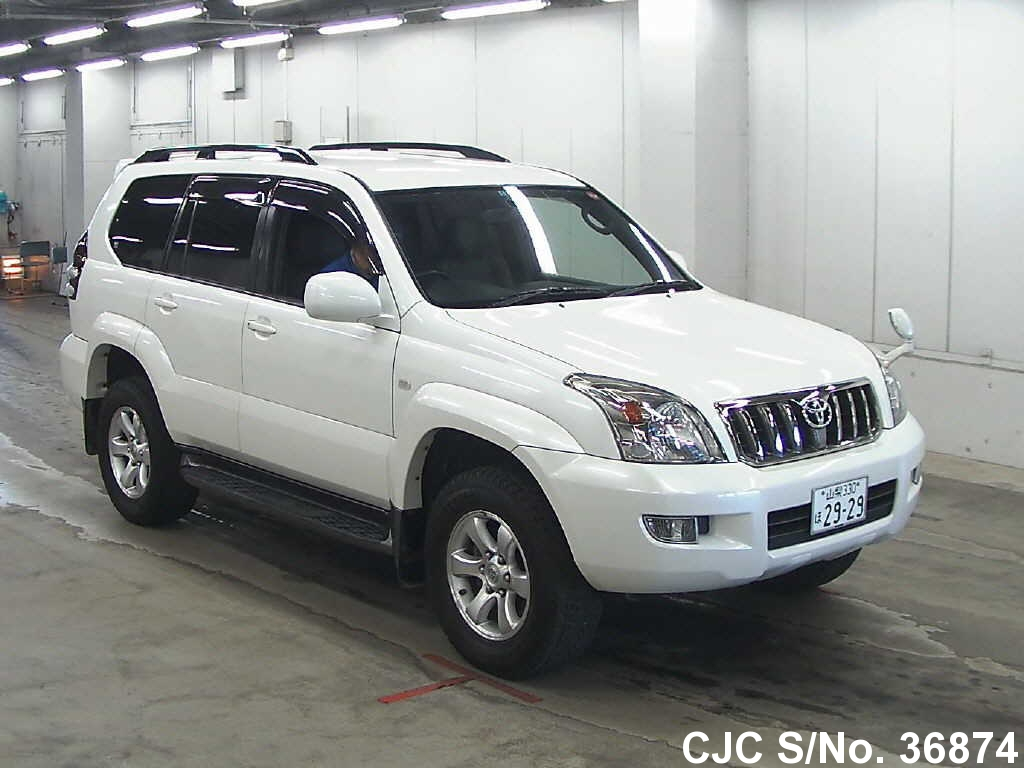 2008 toyota land cruiser prado white for sale stock no 36874 japanese used cars exporter. Black Bedroom Furniture Sets. Home Design Ideas