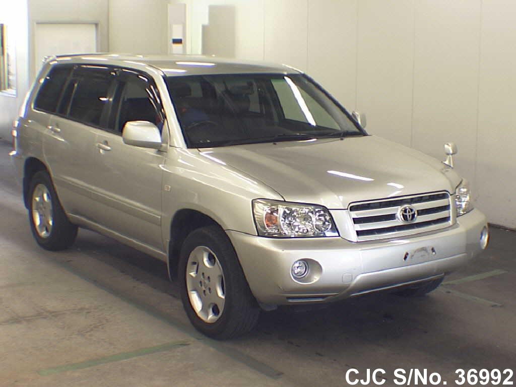 2005 toyota kluger silver for sale stock no 36992