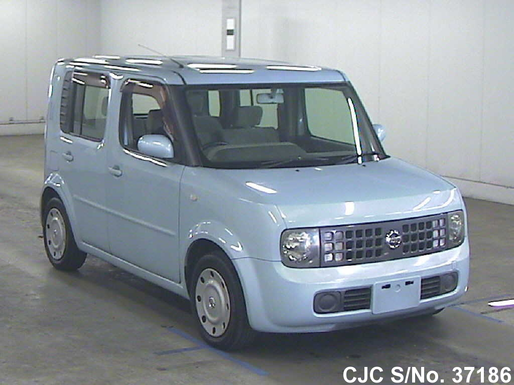 2002 nissan cube blue for sale stock no 37186 japanese used cars exporter. Black Bedroom Furniture Sets. Home Design Ideas