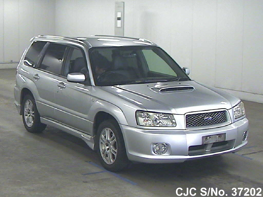 2004 subaru forester silver for sale stock no 37202 japanese used cars exporter. Black Bedroom Furniture Sets. Home Design Ideas