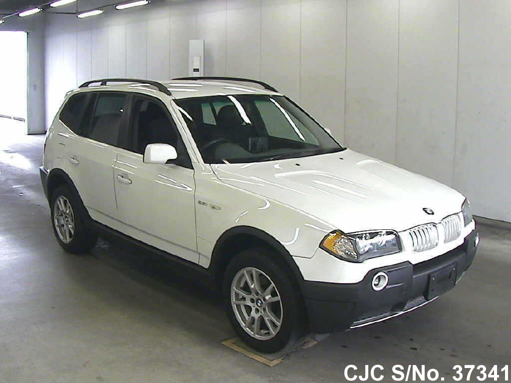 2004 bmw x3 white for sale stock no 37341 japanese used cars exporter. Black Bedroom Furniture Sets. Home Design Ideas