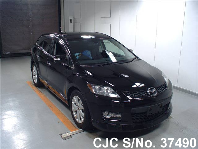 2007 mazda cx7 black for sale stock no 37490 japanese used cars exporter. Black Bedroom Furniture Sets. Home Design Ideas