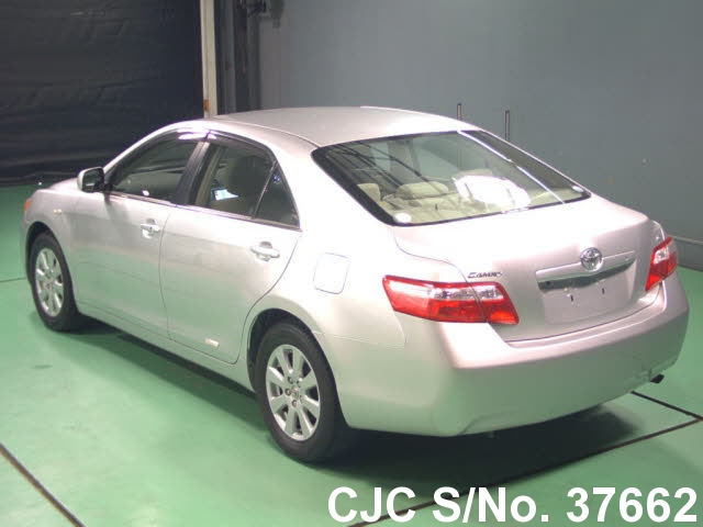 2008 toyota camry silver for sale stock no 37662 japanese used cars exporter. Black Bedroom Furniture Sets. Home Design Ideas
