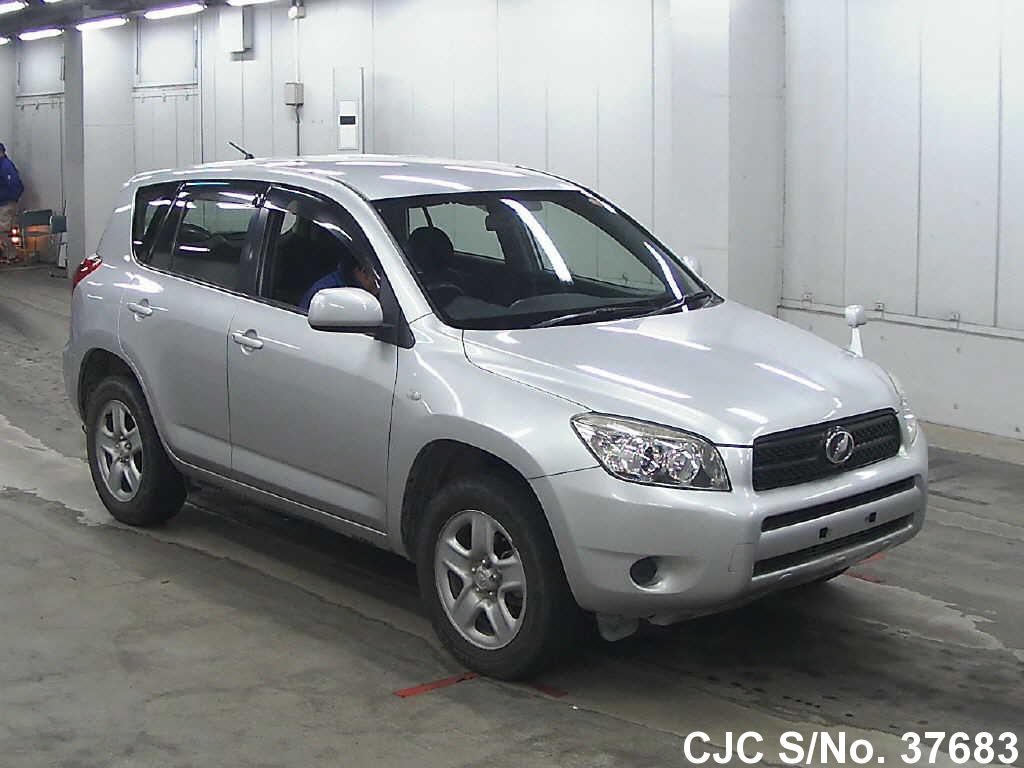 2006 toyota rav4 silver for sale stock no 37683 japanese used cars exporter. Black Bedroom Furniture Sets. Home Design Ideas