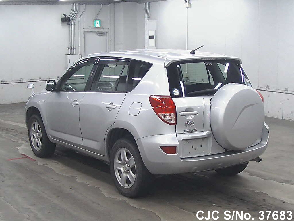 2006 toyota rav4 silver for sale stock no 37683 japanese used cars exporter. Black Bedroom Furniture Sets. Home Design Ideas