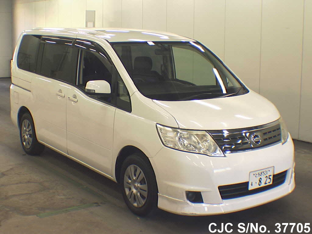 2008 nissan serena white for sale stock no 37705 japanese used cars exporter. Black Bedroom Furniture Sets. Home Design Ideas