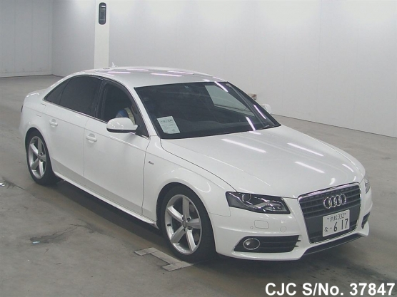 2011 audi a4 white for sale stock no 37847 japanese used cars exporter. Black Bedroom Furniture Sets. Home Design Ideas
