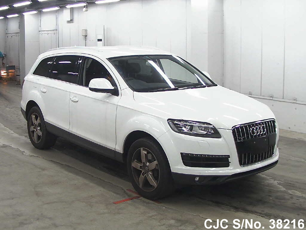 2010 audi q7 white for sale stock no 38216 japanese used cars exporter. Black Bedroom Furniture Sets. Home Design Ideas