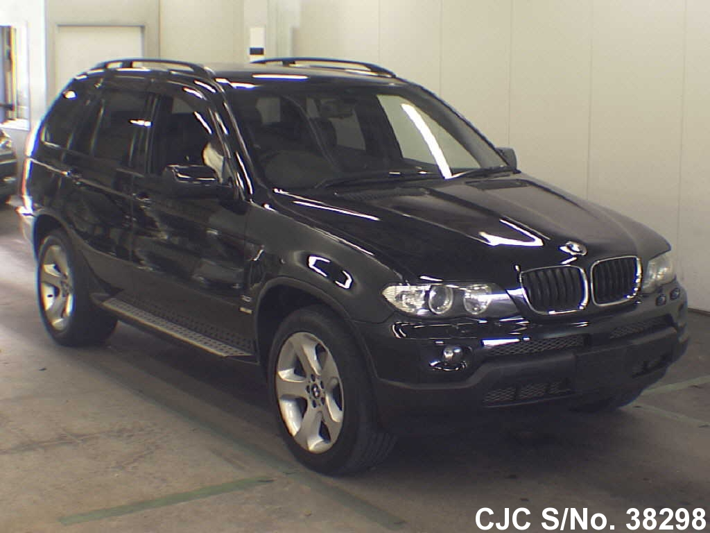 2004 bmw x5 black for sale stock no 38298 japanese used cars exporter. Black Bedroom Furniture Sets. Home Design Ideas