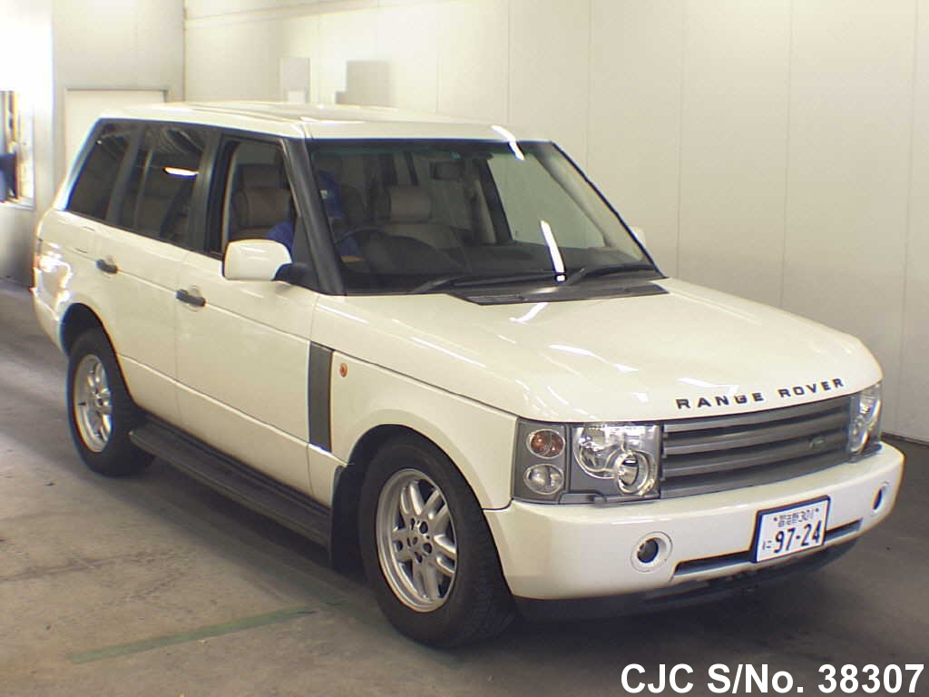 2002 land rover range rover white for sale stock no 38307 japanese used cars exporter. Black Bedroom Furniture Sets. Home Design Ideas