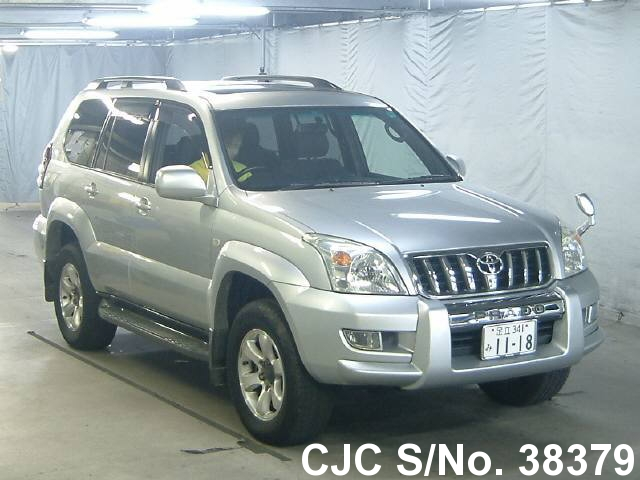 2005 toyota land cruiser prado silver for sale stock no 38379 japanese used cars exporter. Black Bedroom Furniture Sets. Home Design Ideas
