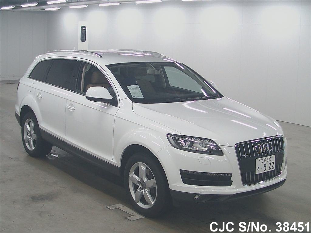 2011 audi q7 white for sale stock no 38451 japanese used cars exporter. Black Bedroom Furniture Sets. Home Design Ideas