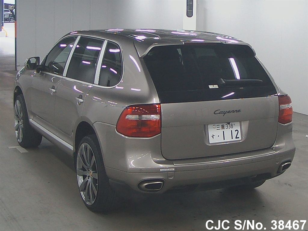 2007 porsche cayenne gold for sale stock no 38467 japanese used cars exporter. Black Bedroom Furniture Sets. Home Design Ideas