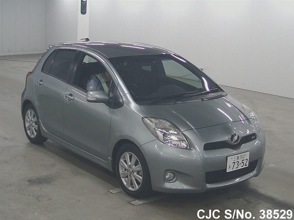 2009 toyota vitz yaris silver for sale stock no 38529 japanese used cars exporter. Black Bedroom Furniture Sets. Home Design Ideas
