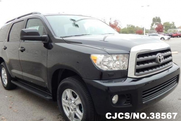 2016 left hand toyota sequoia black for sale stock no 38567 left hand used cars exporter. Black Bedroom Furniture Sets. Home Design Ideas