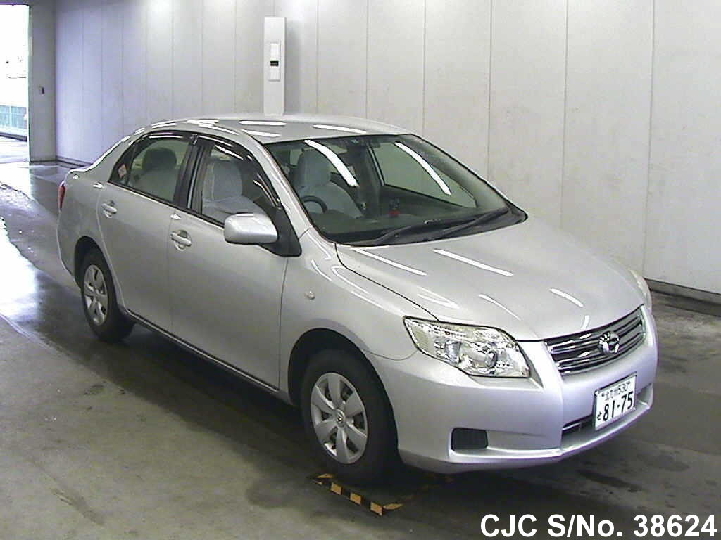 2008 toyota corolla axio silver for sale stock no 38624 japanese used cars exporter. Black Bedroom Furniture Sets. Home Design Ideas