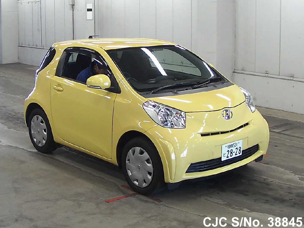 2010 toyota iq yellow for sale stock no 38845 japanese used cars exporter. Black Bedroom Furniture Sets. Home Design Ideas