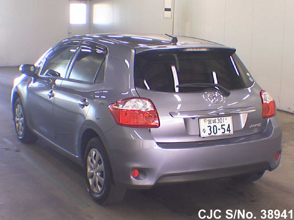 2009 toyota auris blue for sale stock no 38941 japanese used cars exporter. Black Bedroom Furniture Sets. Home Design Ideas