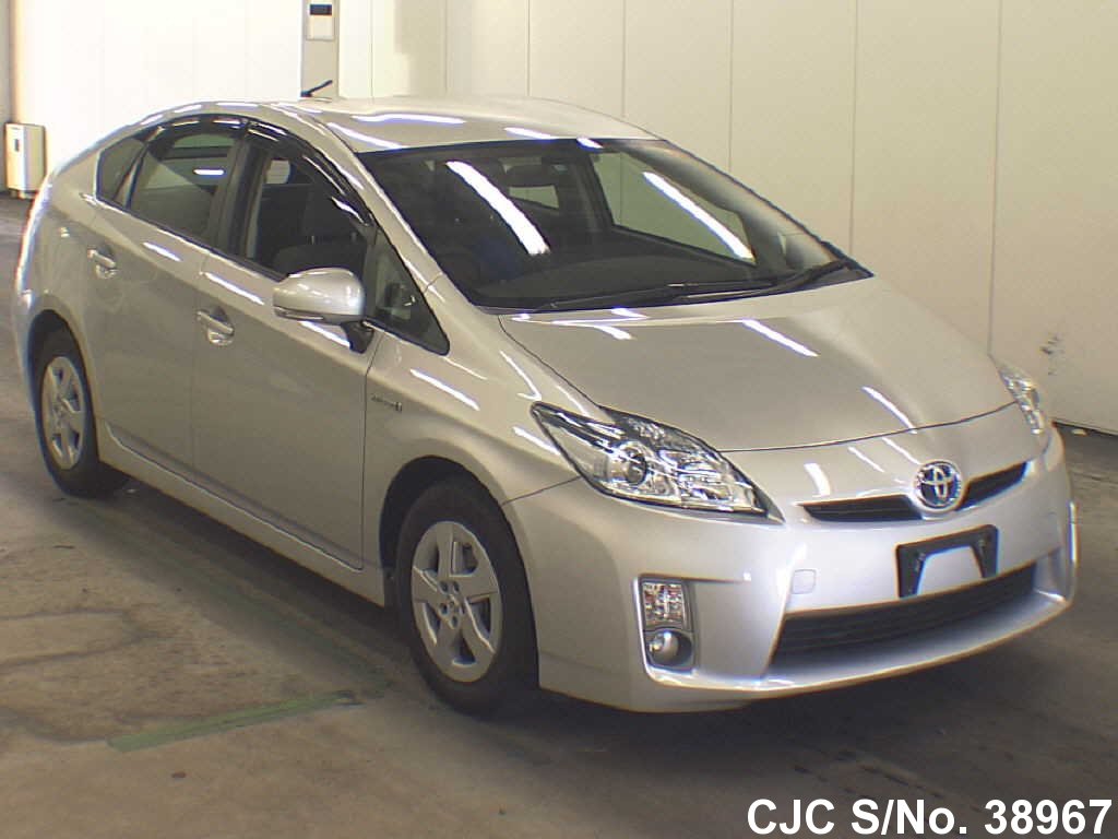 2010 toyota prius hybrid silver for sale stock no 38967 japanese used cars exporter. Black Bedroom Furniture Sets. Home Design Ideas