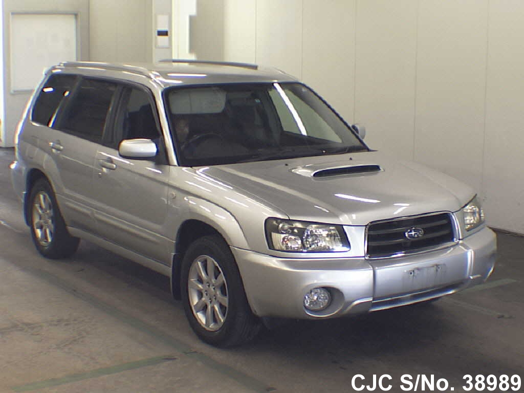 2004 subaru forester silver for sale stock no 38989 japanese used cars exporter. Black Bedroom Furniture Sets. Home Design Ideas